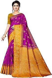 Neerav Exports Banarasi Soft Silk With Rich Pallu Traditional Jacquard Saree (Purple)