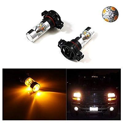 2x 100W CREE 5202 H16 LED Daytime Running DRL Fog Lights Bulbs Lamps For Chevorlet GMC Dodge Chrysler Jeep