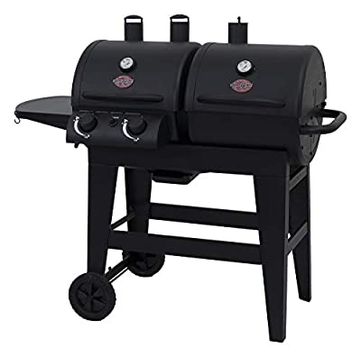 Char-Griller 5030 2-Burner Gas & Charcoal Grill Dual Function, Black