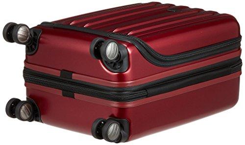 [デルセー]Vavinzipスーツケースバビンジップ38L機内持ち込み一泊小型5年保証双輪キャスターフロントポケット軽量エキスパンダブル保証付55cm3.6kgレッド