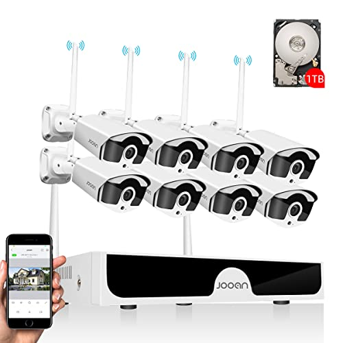 【Audio & Extension Antenna】JOOAN 3MP Security Camera System...