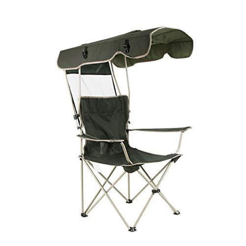 Hh001 Klappstuhl Outdoor Ultraleichte Tragbare Freizeit Sonnenschirm Stuhl Angeln Strand Stuhl Metallrahmen Oxford Stoff