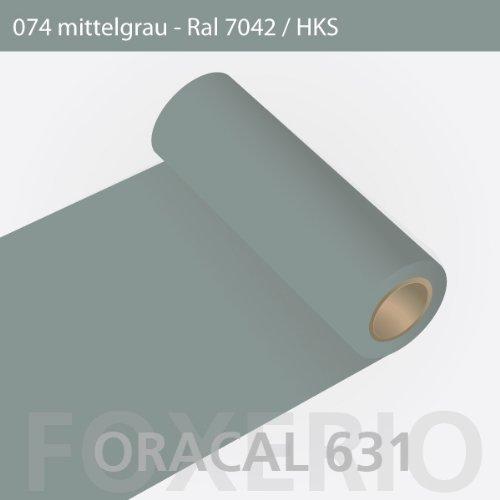 Orafol - Oracal 631 - 63cm Rolle - 5m (Laufmeter) - Mittelgrau / matt, A26oracal - 631 - 5m - 63cm - 33 - kl - Autofolie / Möbelfolie / Küchenfolie