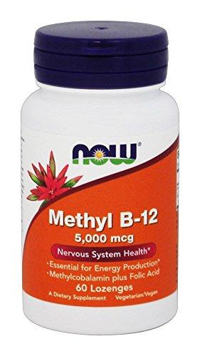 Methyl B-12, 5000 mcg, 60 Lozenges - Now Foods - UK Seller