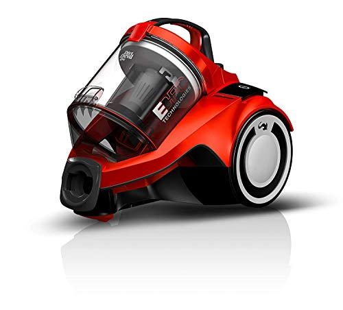 Dirt Devil Aspirapolvere Senza Sacchetto con Tecnologia Ciclonica Rebel 25 HFC e Spazzola Parquet, 700 W, 2.7 Litri, 79 Decibel, Rosso