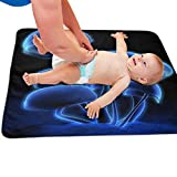 Zcfhike Baby Portable Diaper Changing Pad Blue Mushroom Urinary Pad Baby Changing Mat 31.5' x25.5''
