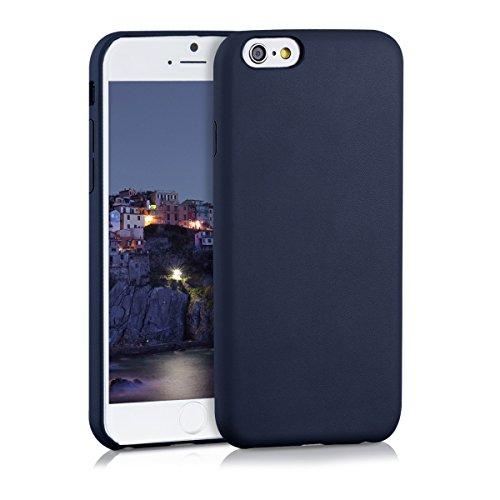 kwmobile Funda Compatible con Apple iPhone 6 / 6S - Carcasa de Cuero sintético para móvil - Cover en Azul Oscuro