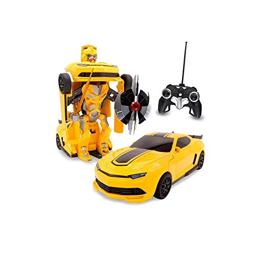 GRTVF 1.14 Fernbedienung Auto Spielzeug Transformers Roboter Fernbedienung Sportwagen mit One Button Transformation Realistische Maschinen-Ton und 360 High-Speed-Drift RC Car