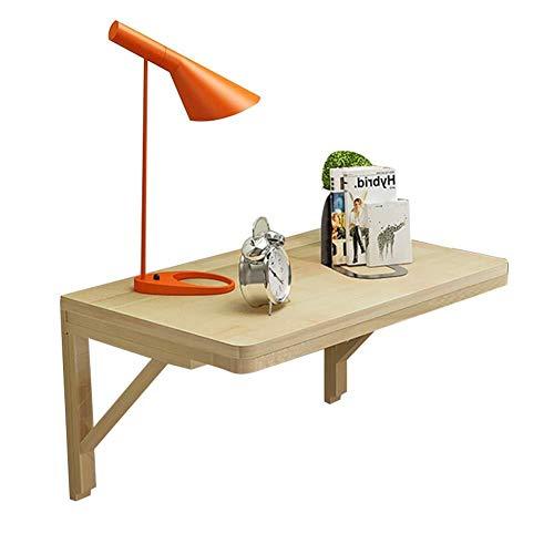 Wangczdz aan de muur bevestigd houten bureau-laptop-stand-uitganghangend onderstel-eettafel kantoor