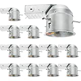12 Pack 4 Inch Recessed Lighting Housing Remodel, Shallow Type Airtight IC Can Housing with TP24 Connector for LED Recessed Downlight Retrofit Kit, Recessed Light, ETL Listed