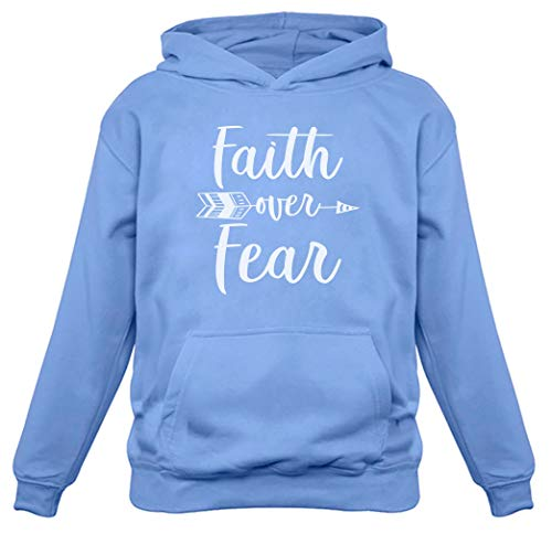 Tstars - Faith Over Fear Christian Fashion Gifts Women Hoodie Small California Blue
