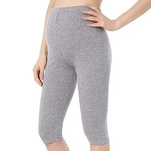 QingWan Short Leggings for Pregnancy Women Workout Capri Maternity Shorts Over The Belly
