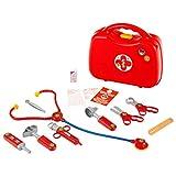 Klein 4383 Mallette docteur | Avec 14 accessoires dont stéthoscope, thermomètre, seringue | Et une poignée pratique pour le transport. Dimensions: 28 cm x 9,5 cm x 22 cm | Dès 3 ans