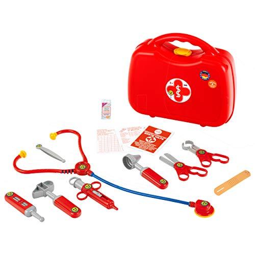 Theo Klein 4383 Arztkoffer I 14-teiliger Doktorkoffer mit Stethoskop, Thermometer, Spritze und praktischem Tragegriff I Maße: 28 cm x 9,5 cm x 22 cm I Spielzeug für Kinder ab 3 Jahren