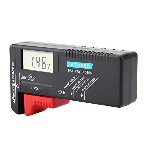 Comprobador De Batería, Comprobador De Voltaje De Batería Digital Para El Hogar BT 168D Probador De Voltaje De Batería Universal Para Pilas De Botón AA AAA 9V 1.5V Para Uso Doméstico