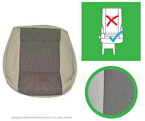 INKA Austin Titan Grey Front and Rear Seat Covers - to fit VolksWagen Transporter T6, T5.1 Panel Van and Kombi (Rear Single Cushion)