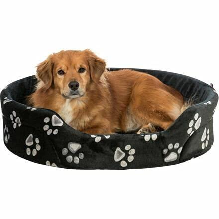 Trixie Cama para perros JIMMY oval negro con patas, 75 x 65cm, Algodón, felpa, tela