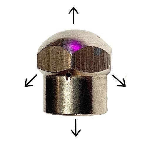 M&M Smartek Rohrreinigungsdüse mit Front- und Rückstrahl für Reinigungsschläuche mit einem 1/8 1/8
