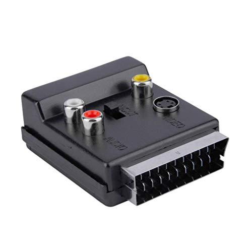 H HILABEE Euroconector RGB a TV AV Compuesto 3RCA S-Video