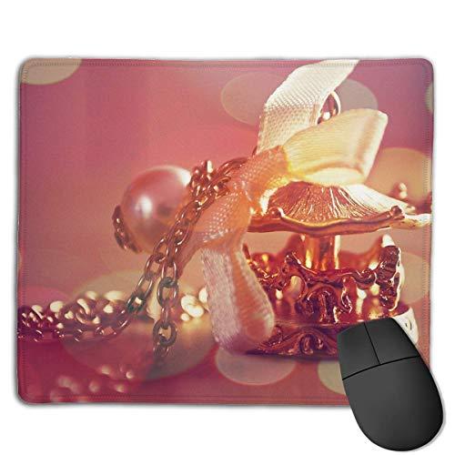 Tragbare Gaming Mouse Pad Perlenkette Schmuck Komfortable rutschfeste Basis Langlebige genähte Kanten für Laptop-Computer