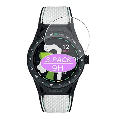 VacFun 3 Piezas Vidrio Templado Protector de Pantalla, compatible con TAG Heuer Connected Modular GOLF EDITION 45mm, 9H Cristal Screen Protector Protectora Reloj Inteligente