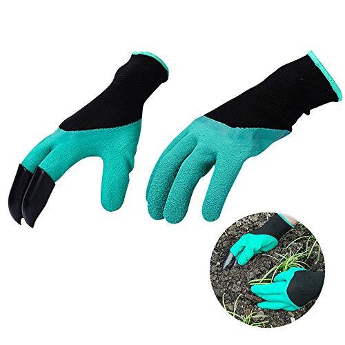 Amaoma Garten Werkzeug Handschuhe,Wasserdicht Gartenhandschuhe mit klauen Anti-Krawatte Verschleißfest Gartenarbeit Handschuhe mit ABS-Kunststoff Krallen für Graben & Pflanzen 1 Pairs