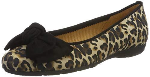 Gabor Shoes Damen Casual Geschlossene Ballerinas, Beige (Natur/Schwarz 37), 40.5 EU