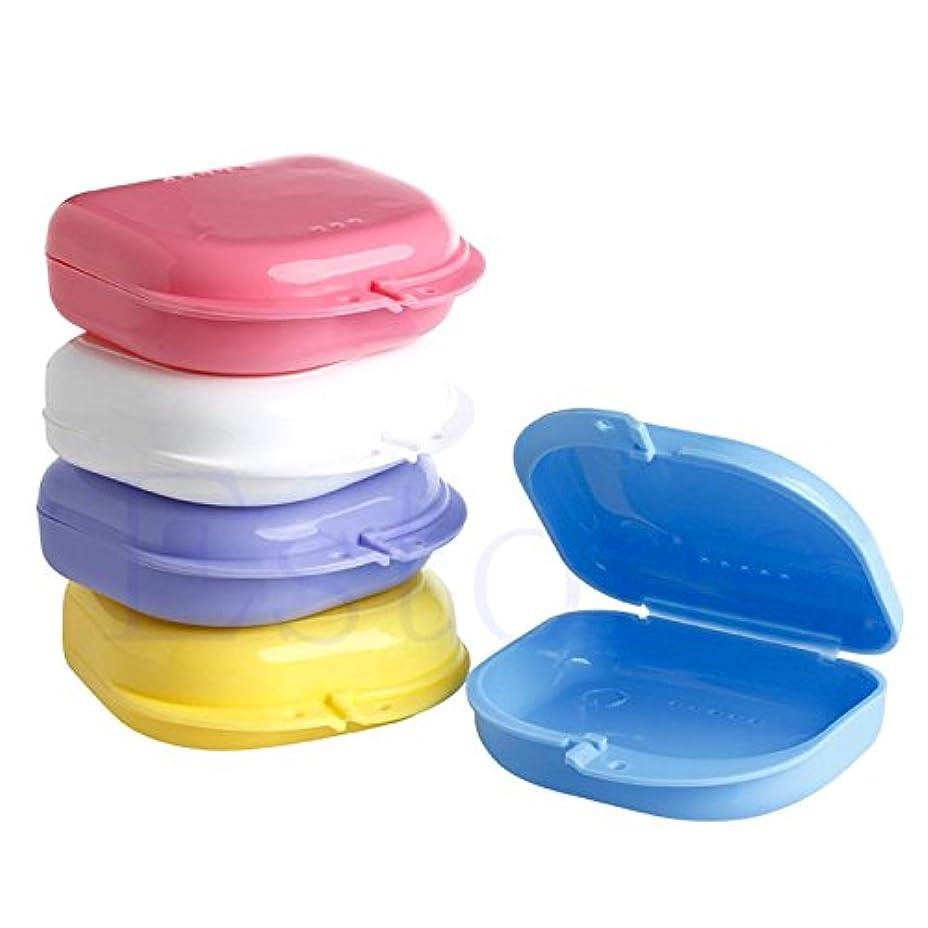一パパ適応的SimpleLife歯の箱/義歯ボックス - 歯科矯正保持者の義歯の収納ケースボックスマウスガードのコンテナ、8cmx7.5cm