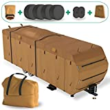 LATCH.IT RV & Trailer Covers   18'-20' RV Covers   Camper Covers   RV Trailer Covers w/ Storage Bag, Gutter Spout & Tire Covers, and Bonus Items   Protect Your Trailer from UV Rays & Paint Fade!