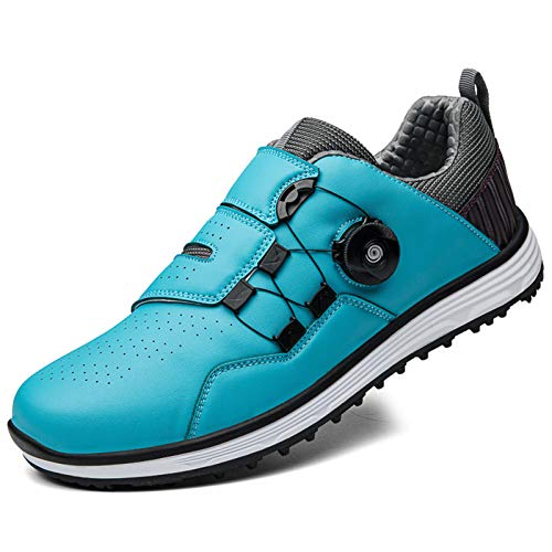 Aupast Golf Shoes for Men, Men's Waterproof Golf Shoe with BOA Lace System Outdoor Anti-Skid Breathable Golf Shoes Sneakers