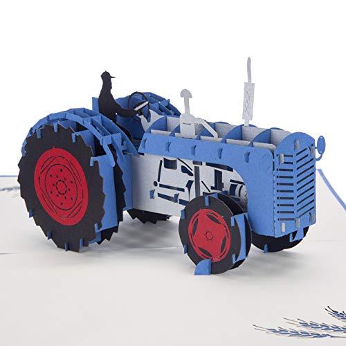 11000807 Bajato Redondo Vintage Tractor L/ámpara De Cola Trasera Luz Con La Placa De La Licencia Ventana 12V