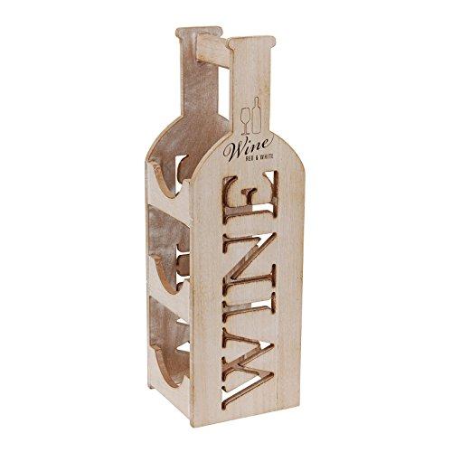 Viscio Trading - Botellero de Madera Vintage, para 3Botellas, de decoración, de diseño, para casa