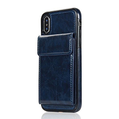 Cover iPhone 7 Plus/8 Plus,Oihxse Custodia Compatibile con iPhone 7 Plus/8 Plus Portafoglio,PU Pelle Premium Cover,Carta Fessura Flip Wallet Case Cover con Chiusura Magnetica Cover Stile (blu)