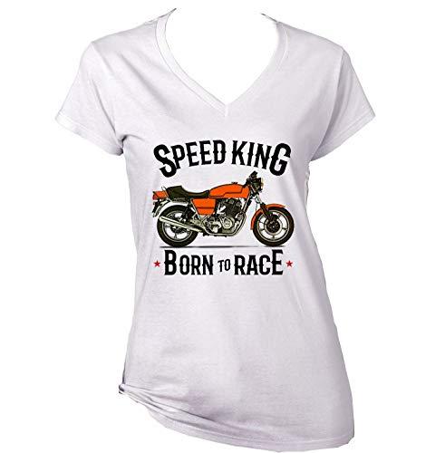 Teesandengines Laverda jota 1000 Speed King Motorcycle Camiseta para Mujer de Algodon Size Xlarge