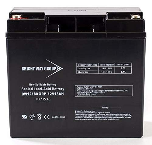BW12180XRP 12v 18ah-XRP REVERSE POLARITY Sealed AGM Generator Battery 12 volt 18 ah for select Generac, Briggs & Stratton & Troy-Bilt generators requiring reverse polarity replaces CP12180XRP 193463GS