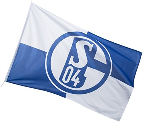 Hissflagge FC Schalke 04 Karo - 100 x 150 cm + gratis Aufkleber, Flaggenfritze®