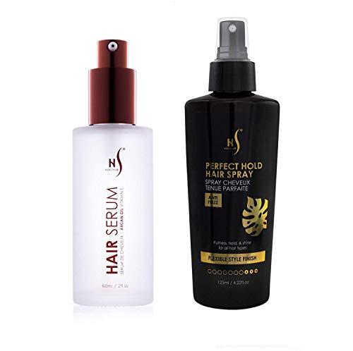 Hair Styling Spray And Argan Oil Hair Serum Set - Vitamin E Hair Serum - Hair Care Set - Spray For Styling Hair To Perfection - Hair Styling Serum Set From HerStyler