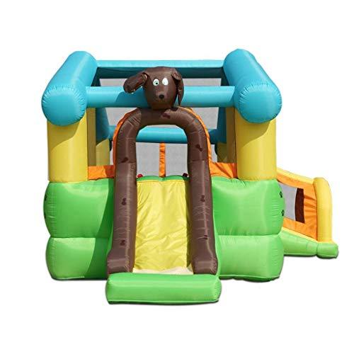 FMOGE Inflables Castillos Hinchables Castillo Inflable Zona De Juegos para Niños Toboganes para Niños Cama Grande para Exteriores Juguetes De Castillo para El Hogar (136,6 * 209 * 103 Pulgadas)