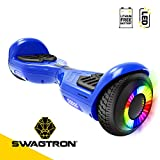 Swagboard Twist Remix Lithium-Free Kids Hoverboard with LED Wheel Lights, Blue