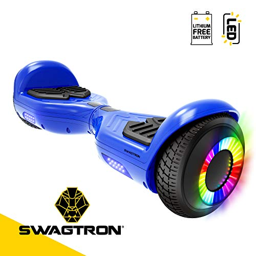 Swagtron SwagBoard Twist Remix T881 Hoverboard with LED Wheels (Blue)