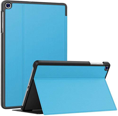 Soke Hulle fur Samsung Galaxy Tab A 101 2019 SM T510T515 Folio Stander Ultraleicht TPU Schutzhulle fur Galaxy Tab A 101 Zoll 2019 Hellblau