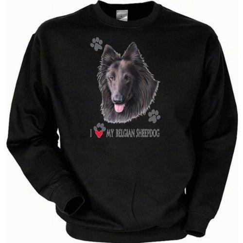 trag-das Cooles Sweatshirt - Hunde Motiv Belgischer Schäferhund - Sweater Herren Pullover Pulli Spaß Geschenk Weihnachten Geburtstag