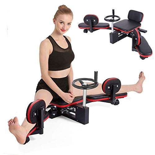 MXXJJ 【US spot】 Adult Leg Stretcher, Heavy Duty Leg Stretching Training Machine, Improve Flexibility Trainer for Yoga and Martial Arts Training Equipment for Home Gym, Max Load 330LBS (Black)