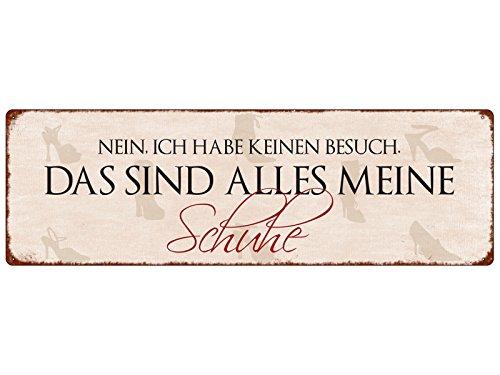 Interluxe METALLSCHILD Türschild Nein, ICH Habe KEINEN BESUCH Schuhe Geschenk Frau Spruch