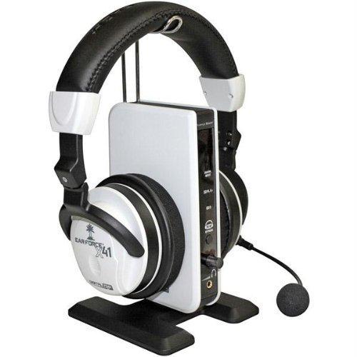 Turtle Beach Ear Force X41 - Auriculares de diadema inalámbricos para Xbox 360, color blanco