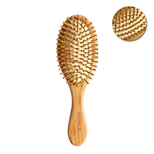 ROSENICE Cepillo de pelo natural de bambú peine cepillo de cuero cabelludo masaje para el cuidado del cabello