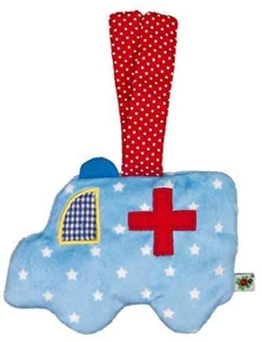 Die Spiegelburg Petit doudou crépitant Ambulance Pour le bonheur de bébé