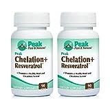 Peak Pure & Natural Peak Chelation+ Resveratrol - Calcium Disodium EDTA - Resveratrol- Malic Acid (2 Pack)