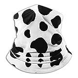Cache-cou en molleton - Tube de soufflet de cou motif vache noir et blanc, bandana, masque, bandeau et bonnet