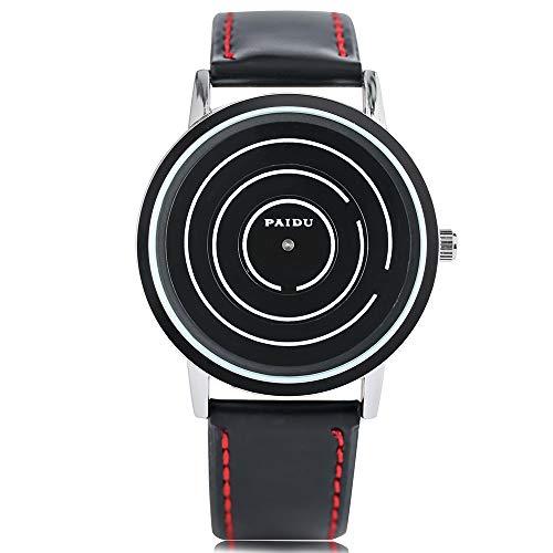 Relojes para hombres, PAIDU Fashion Men Reloj de pulsera, Helix Turntable Dial Sport Casual Militar